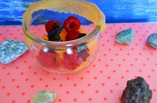 Bouchée melon framboise sans gluten