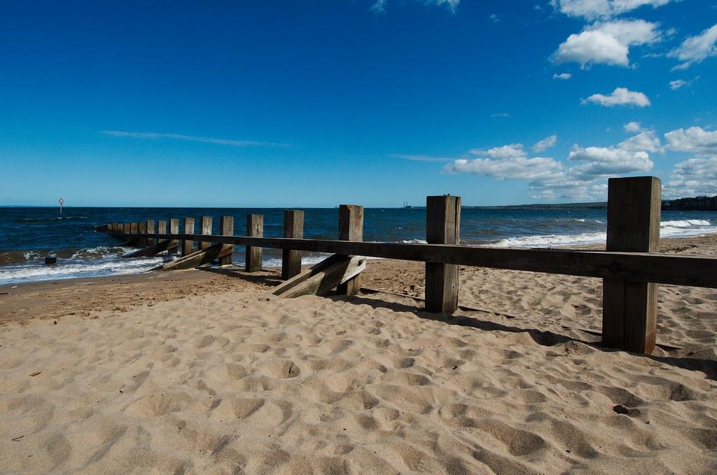 El espigón de la playa de Portobello