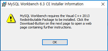 MySQL Workbench Installer Information