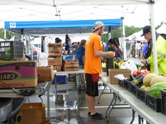 Vendors at the Rice University Farmers Market