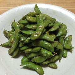 ストウブて作る『枝豆のペペロンチーノ』