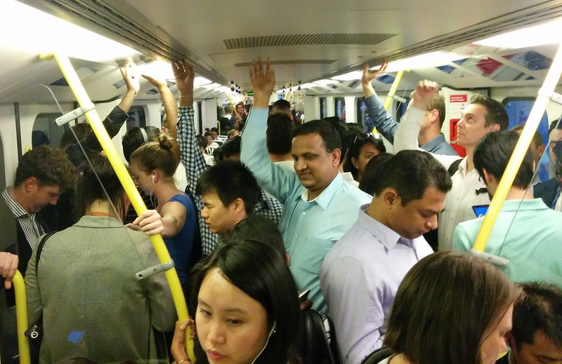 Crowded Siemens train