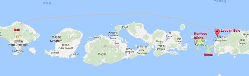 Labuan Bajo 地圖