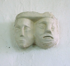 two heads are better (rood beam corbel)