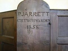 P. Jarrett Churchwarden 1858