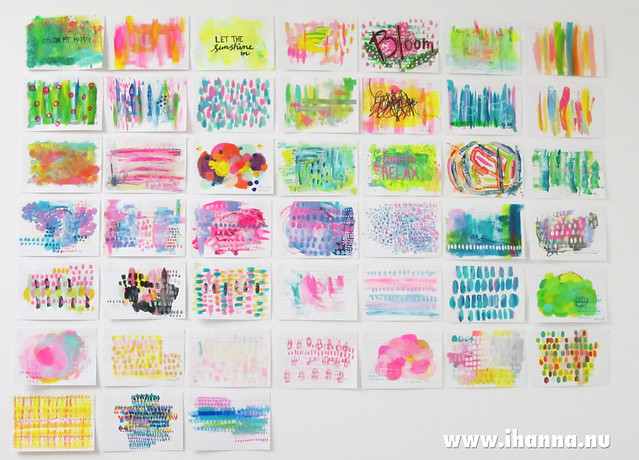 Index Card Abstractions (abstract paintings) by iHanna #icad