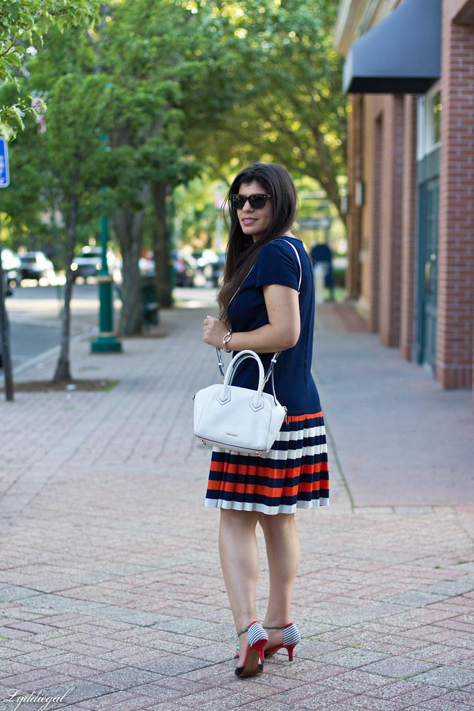 vintage navy striped dress, cherry pumps, white bag-2.jpg