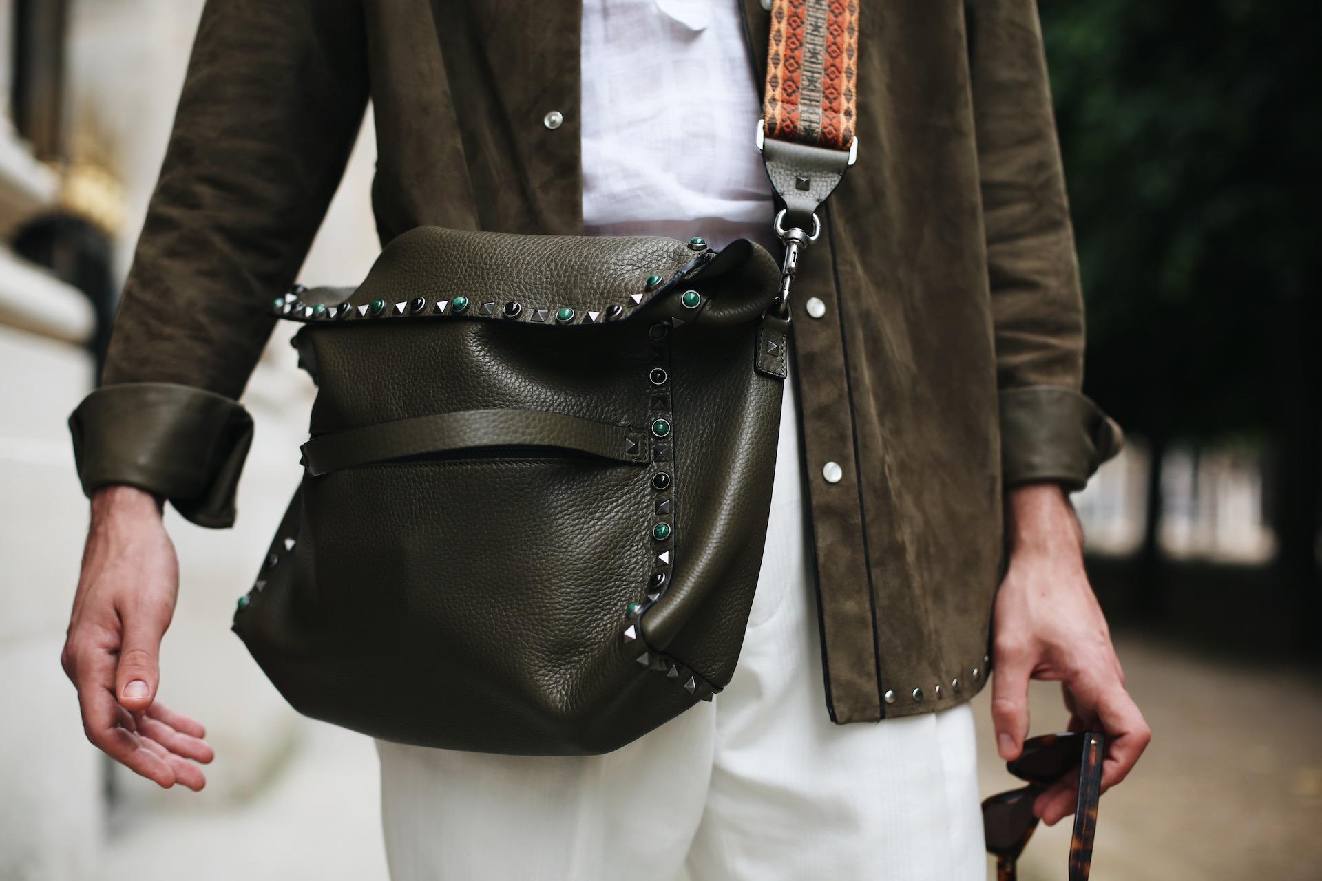 Valentino fall winter 2016 men's collection shoulder bag