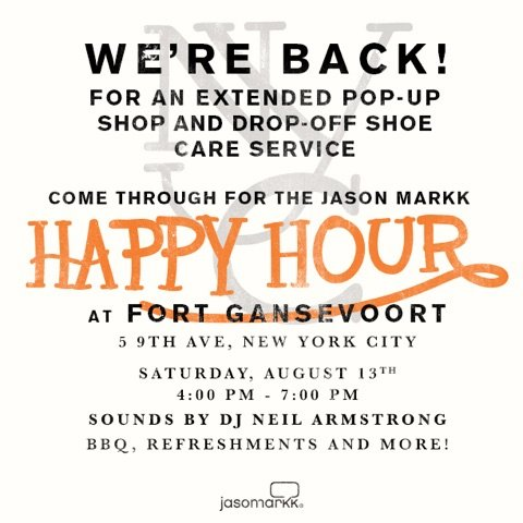 8/13 - Saturday - Jason Markk at Fort Gansevoort Pop-Up Shop / Drop off Shoe care service
