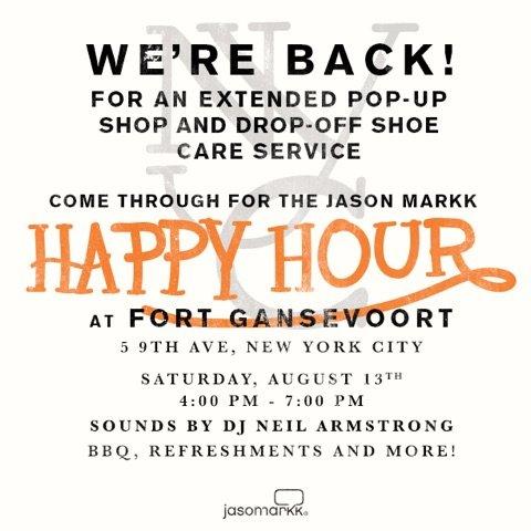 8/13 - Saturday - Jason Markk at Fort Gansevoort Pop-Up Shop / Drop off Shoe care service