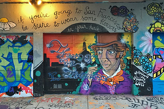 Osage Alley Murals - Willy Wonka mural