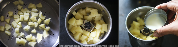 Hot to make Steamed Apple Puree for Babies - Step3