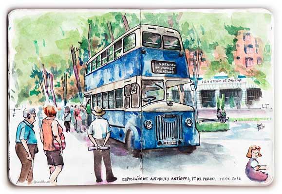 Autobus antiguo de dos pisos