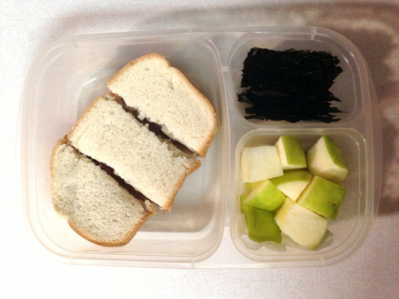 PBJ, seaweed snacks, & apples