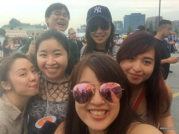 With fellow foodies at the Markham Rotary Ribfest