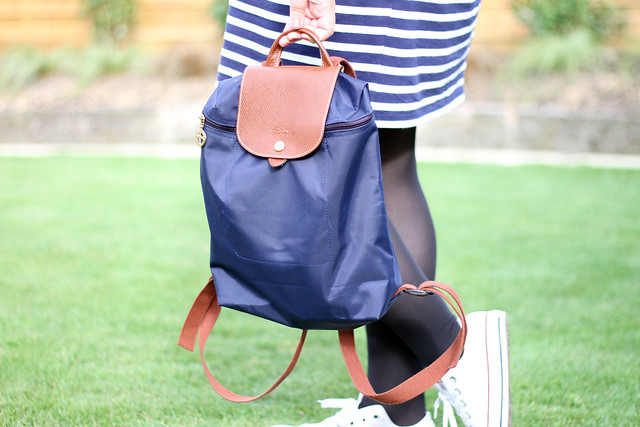Longchamp-navy-backpack