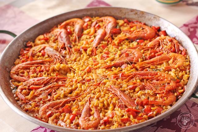Paella de gambas www.cocinandoentreolivos.com (8)