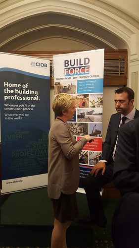 Rebecca Lovelace of EthosVO in conversation at June 2016 Westminster launch of BuildForce.