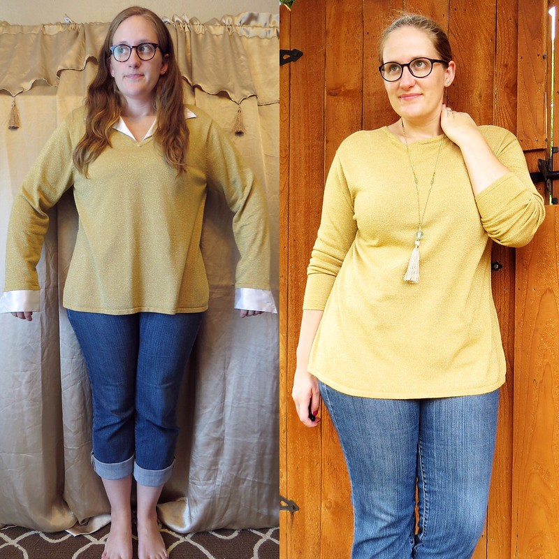 Gold Sweater - Before & After