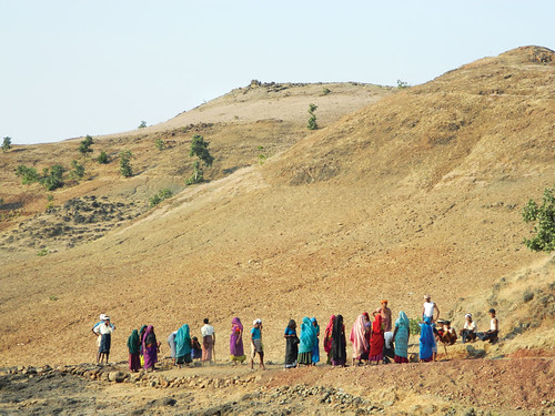 In 2009, MGNREGA was effective in mitigating drought even in the most chronic droughtprone areas (Photo Moyna)