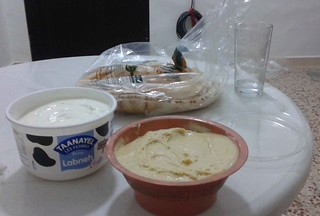 Hummus and Labneh
