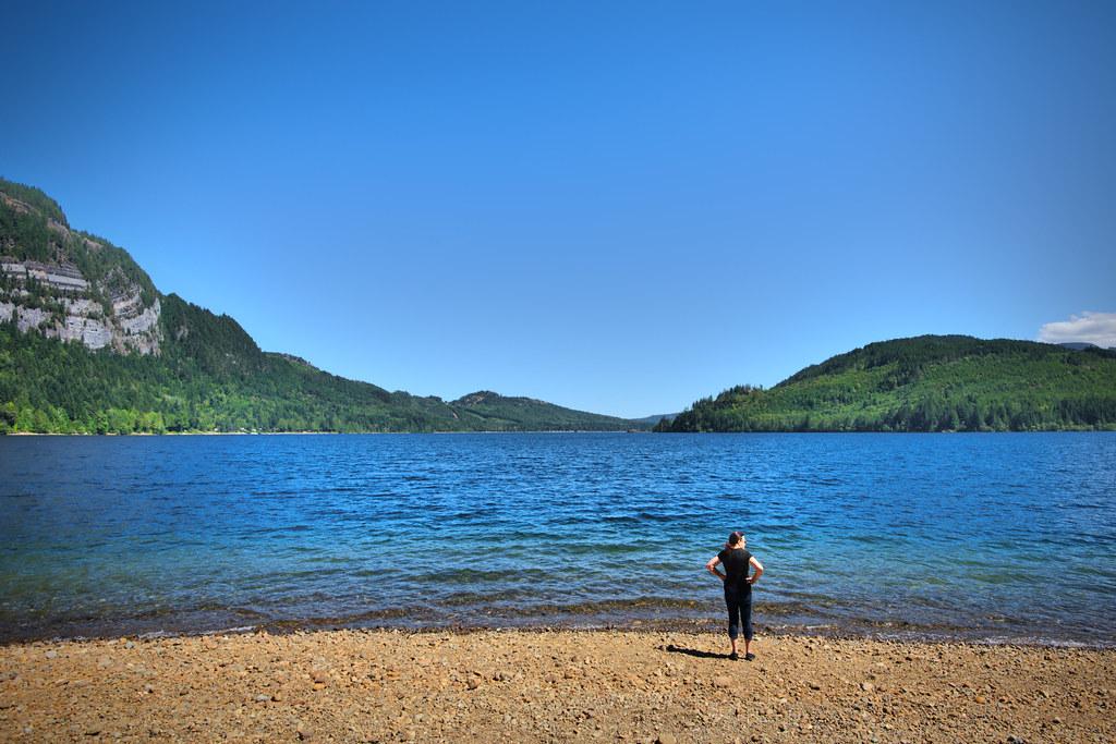 Mom at Horne Lake