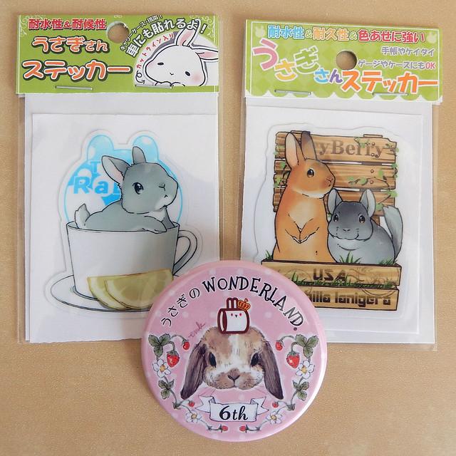 Usagito Cafe stickers & badge