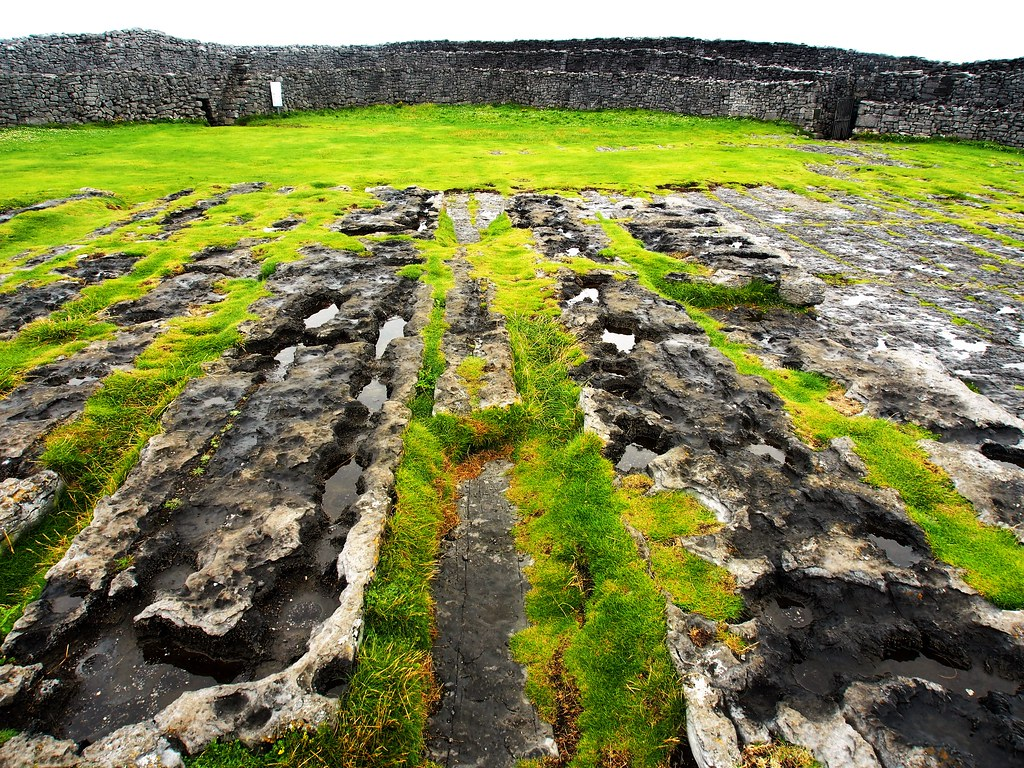 Inside Dun Aonghasa, Inishmore, Aran Islands, Ireland