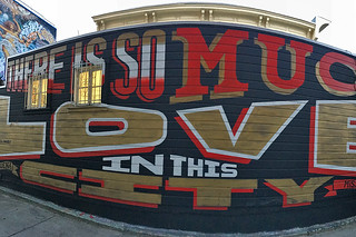 Osage Alley Murals - Love mural