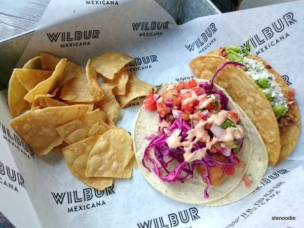 Baja Fish Taco & Chicken Tinga Tacos