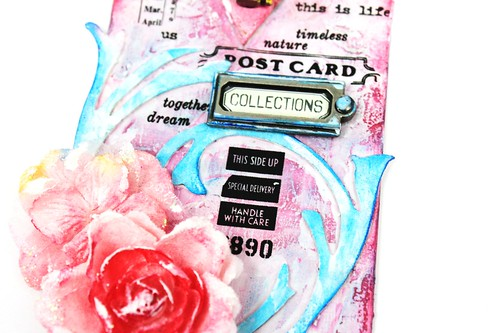 Meihsia Liu Simply paper crafts Mixed media tag texture collection Tim Holtz 3