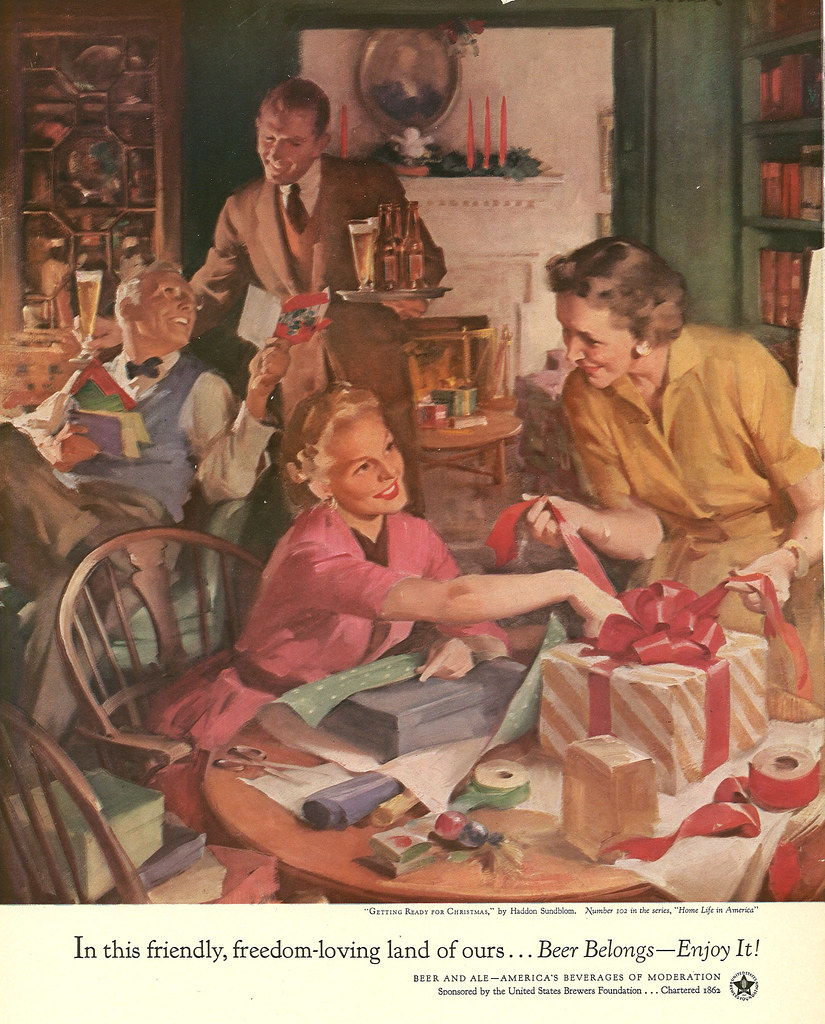 102. Getting Ready for Christmas by Haddon Sundblom, 1954