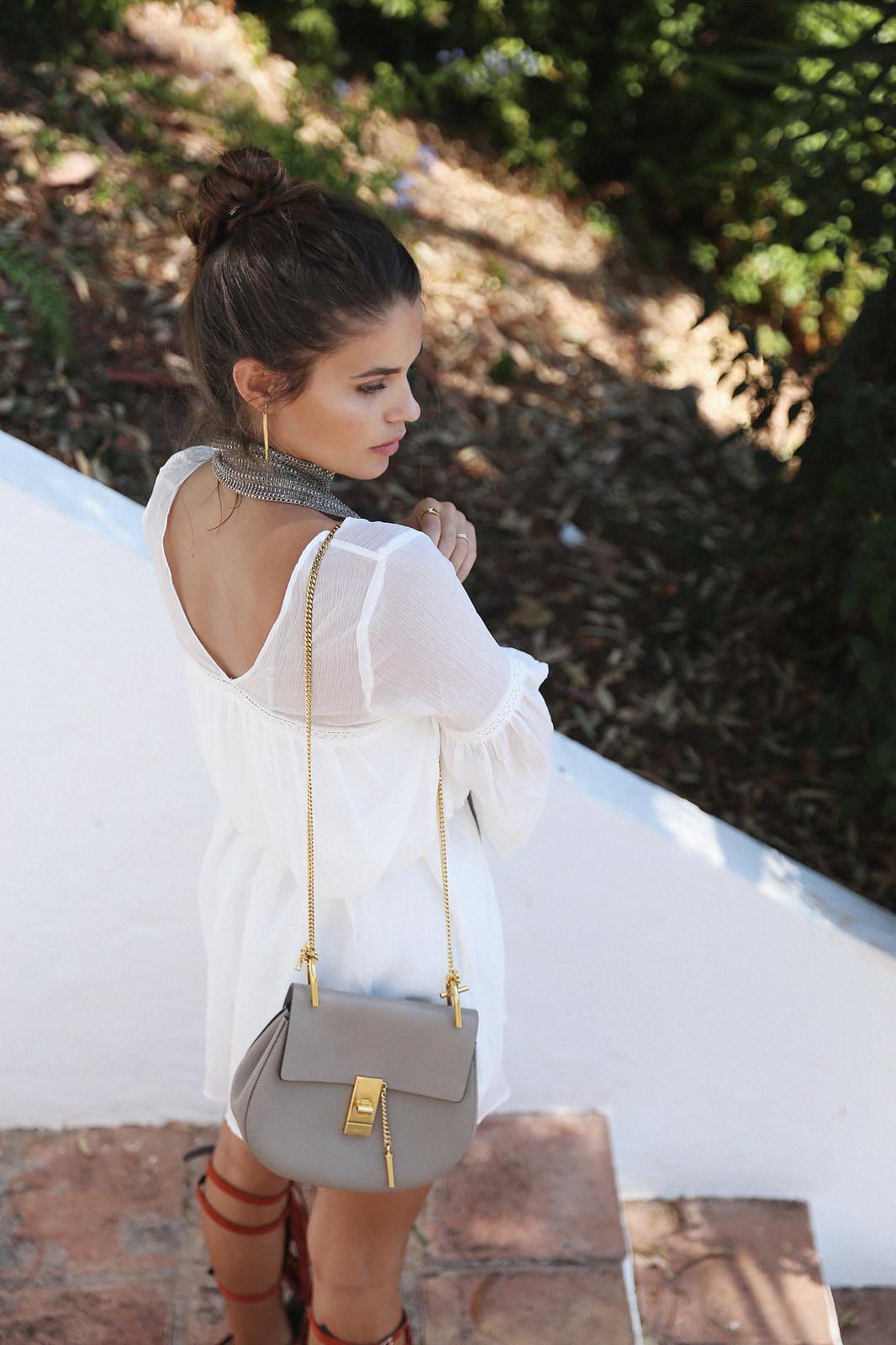 Jessie Chanes Seams for a desire Short White Dress-12