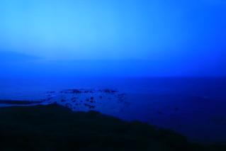 陽がおちた日本海