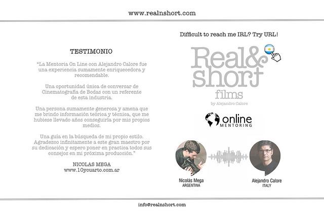 REAL&SHORT® Online Mentoring with Nicolás Mega
