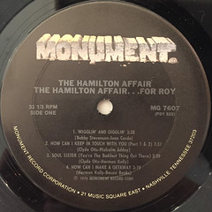 THE HAMILTON AFFAIR:FOR ROY(LABEL SIDE-A)