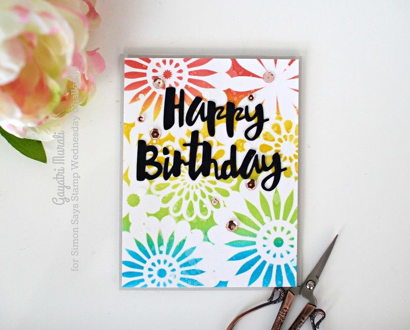 Happy Birthday flat