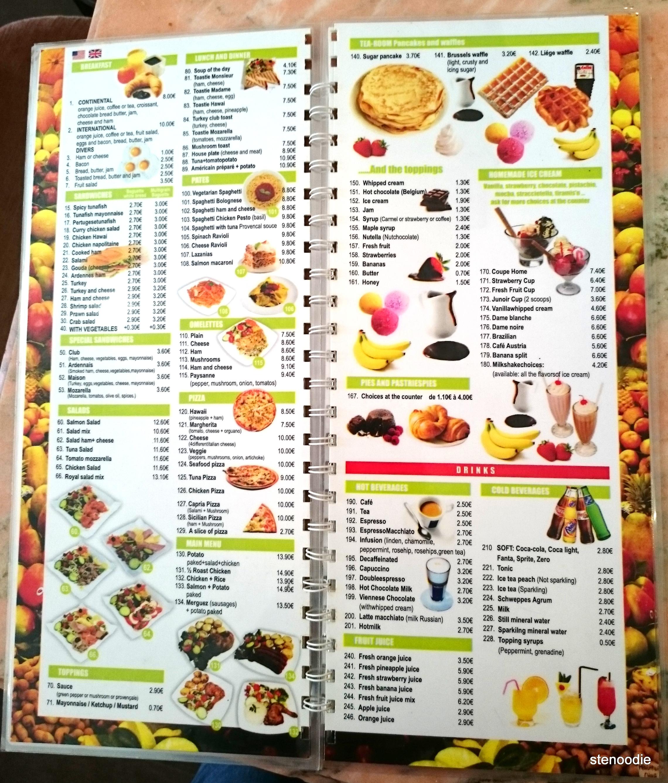 Ijsberg menu