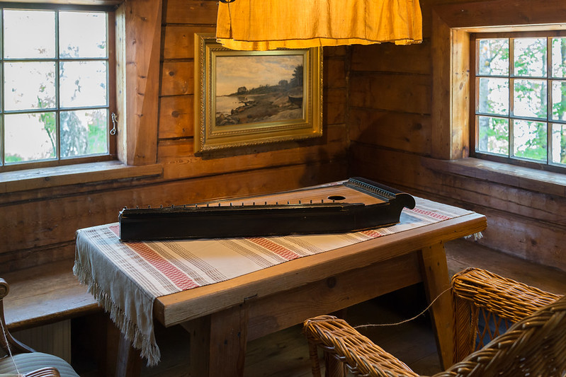Kantele at Halosenniemi, home of Pekka Halonen
