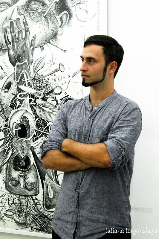Владимир Лалич на открытии выставки