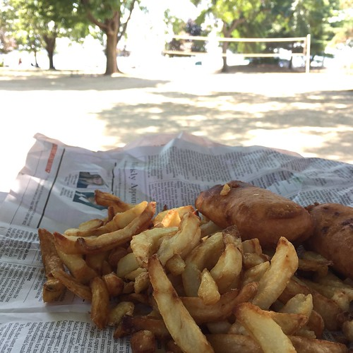 August 11 #dailylunches - Fish and Chips at Don's in Brockville