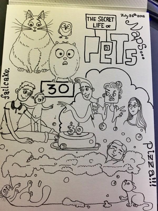 Bday doodle