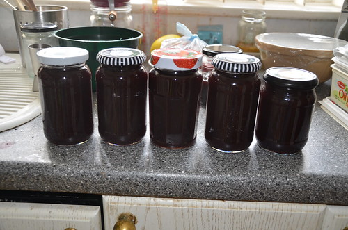 Blackcurrant and apple seedless jam Aug 16 (4)