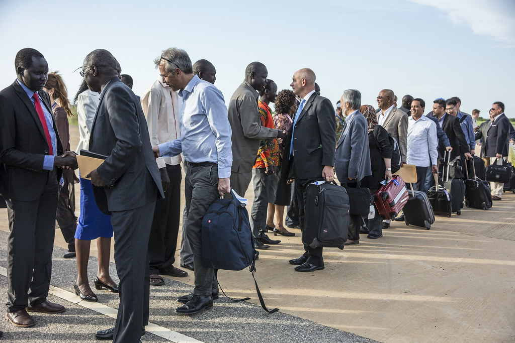 UN Security Council delegation arrives in South Sudan where it will reinforce recent messages made to the authorities as well as discuss how the UN peacekeeping mission there can help them improve the security and  humanitarian situation in the wake of recent violence.
