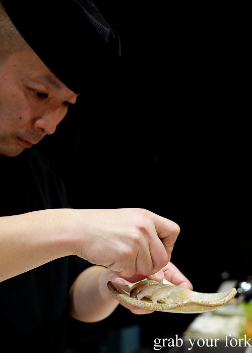 Sushi chef Tomoyuki Matsuya at Hana Ju-Rin in Crows Nest Sydney