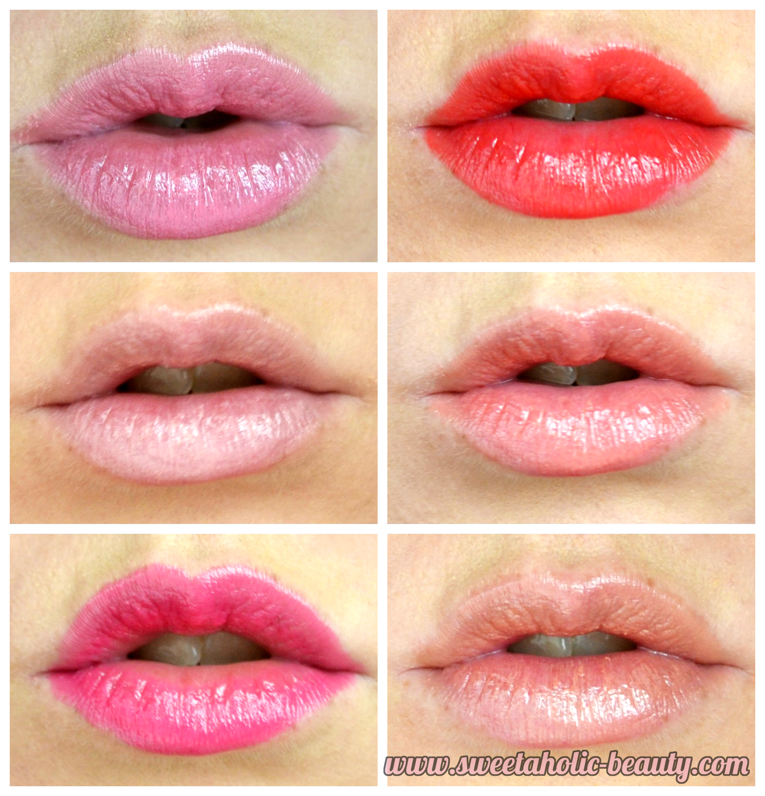 Rimmel London Moisture Renew Sheer and Shine Lipstick Collection Review & Swatches - Sweetaholic Beauty