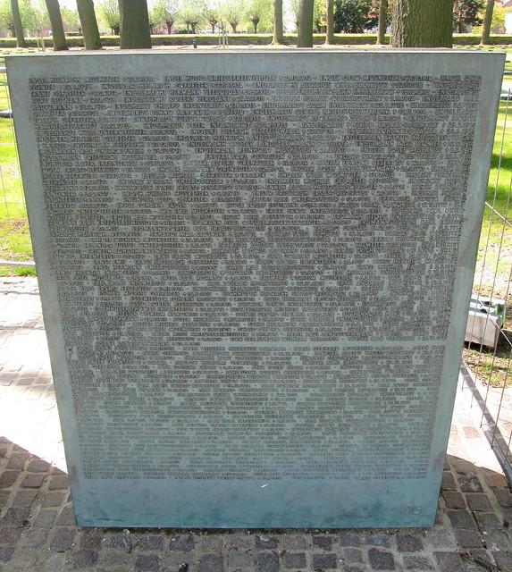 Langemark War Cemetery, Basalt Block