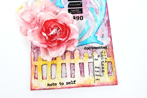 Meihsia Liu Simply paper crafts Mixed media tag texture collection Tim Holtz 4