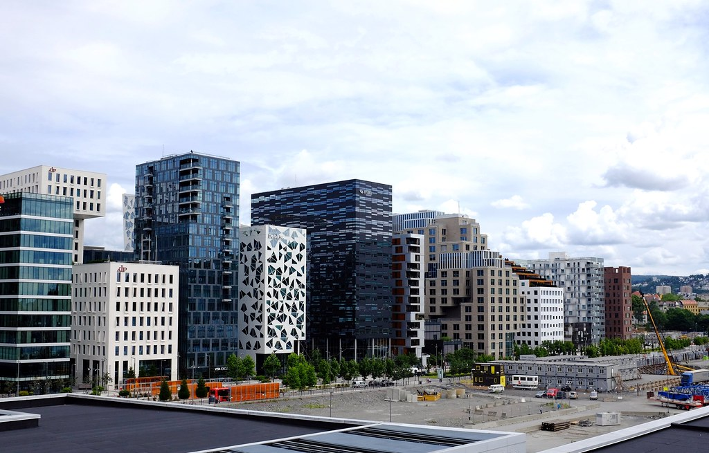 Oslo, Norway. Barcode architecture