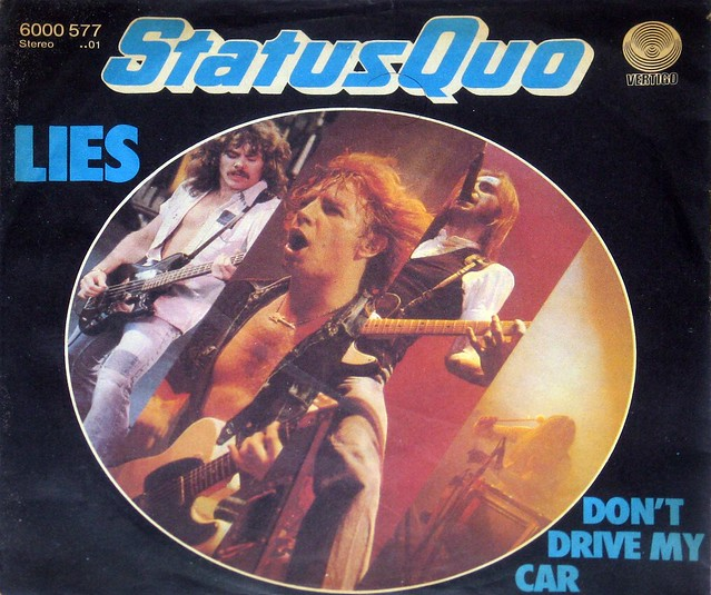 "Status Quo - Lies / Dont Drive My Car 7"" Single vinyl"